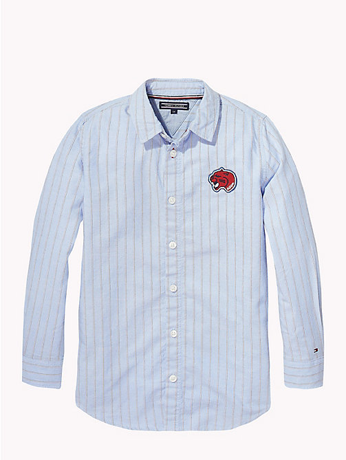 TOMMY HILFIGER Loose Fit Stripe Shirt - NAUTICAL BLUE / MULTI - TOMMY HILFIGER Tops & T-shirts - detail image 1