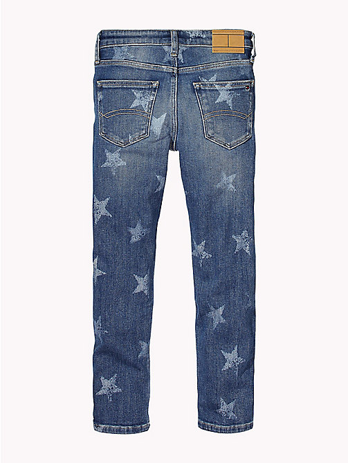 Faded Star Print Jeans - MID BLUE STAR STRETCH - TOMMY HILFIGER Jeans - detail image 1
