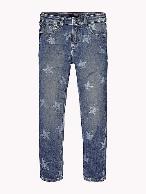 Faded Star Print Jeans - MID BLUE STAR STRETCH - TOMMY HILFIGER Jeans - main image