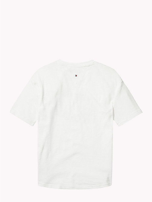 TOMMY HILFIGER T-shirt z logo Tommy Cats - BRIGHT WHITE - TOMMY HILFIGER Topy i T-shirty - detail image 1