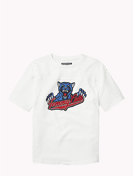 TOMMY HILFIGER T-shirt z logo Tommy Cats - BRIGHT WHITE - TOMMY HILFIGER Topy i T-shirty - main image