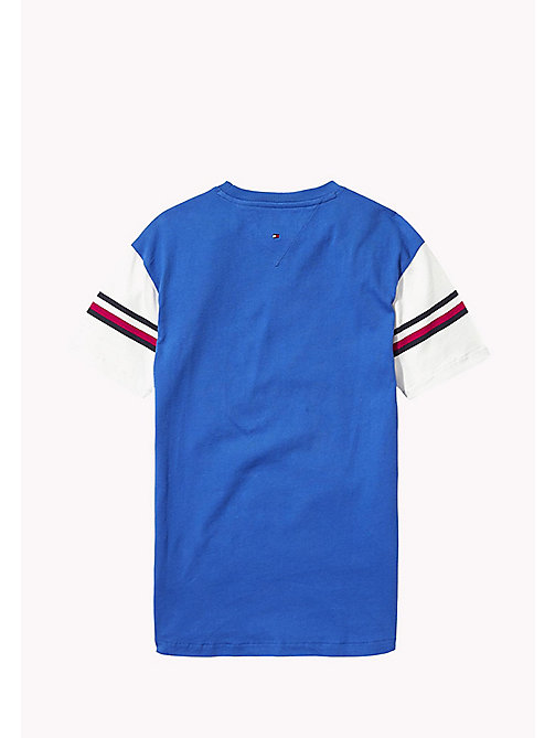 TOMMY HILFIGER T-shirt 1985 z sygnowanymi paskami - NAUTICAL BLUE - TOMMY HILFIGER Topy i T-shirty - detail image 1