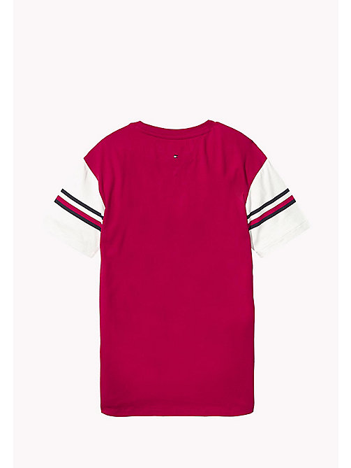 TOMMY HILFIGER T-shirt 1985 z sygnowanymi paskami - APPLE RED - TOMMY HILFIGER Topy i T-shirty - detail image 1