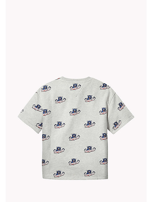 TOMMY HILFIGER UNISEX SHORT SLEEVED SWEATSHIRT S/S - LIGHT GREY HTR/MULTI - TOMMY HILFIGER Sweatshirts & Hoodies - detail image 1