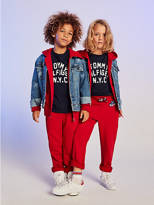 TOMMY HILFIGER Hoodie met rits en Tommy Cats-logo - APPLE RED - TOMMY HILFIGER Sweatshirts & Hoodies - main image