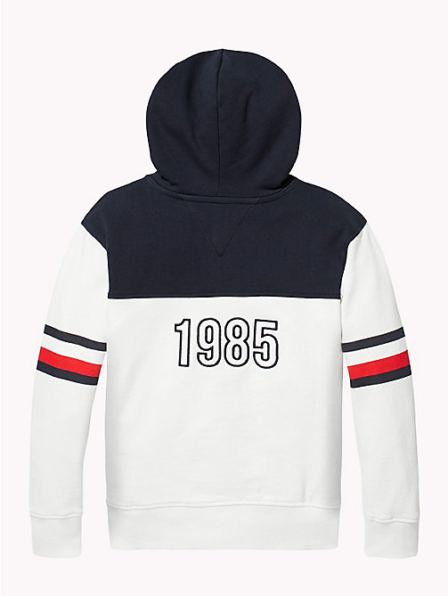 TOMMY HILFIGER Signature Stripe Hoodie - BRIGHT WHITE/SKY CAPTAIN - TOMMY HILFIGER Sweatshirts & Hoodies - detail image 1