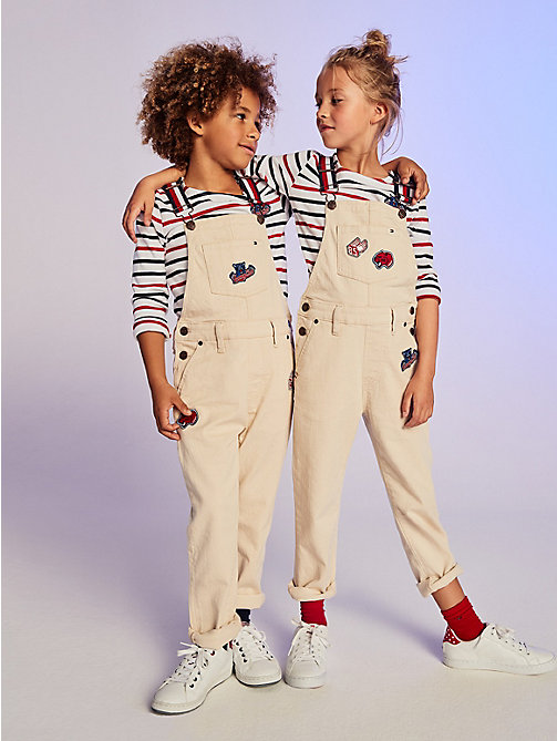 TOMMY HILFIGER Gestreepte top met Tommy Cats-logo - BRIGHT WHITE / MULTI - TOMMY HILFIGER Tops & T-shirts - main image