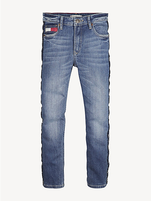 TOMMY HILFIGER Relaxed Cropped Jeans - VARSITY PRINT BLUE STRETCH - TOMMY HILFIGER Jeans - detail image 1