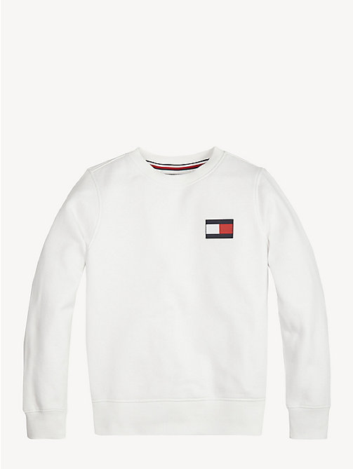 TOMMY HILFIGER Unisex Flag Sweatshirt - BRIGHT WHITE - TOMMY HILFIGER Sweatshirts & Hoodies - main image
