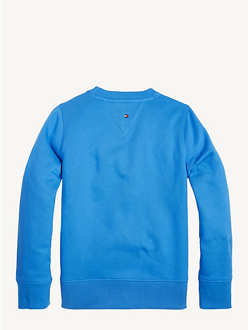 TOMMY HILFIGER Unisex Flag Sweatshirt - BRILLIANT BLUE - TOMMY HILFIGER Sweatshirts & Hoodies - detail image 1