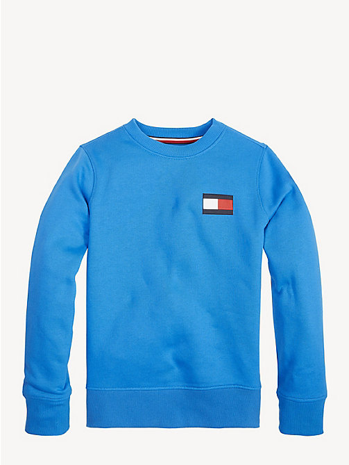TOMMY HILFIGER Unisex Flag Sweatshirt - BRILLIANT BLUE - TOMMY HILFIGER Sweatshirts & Hoodies - main image