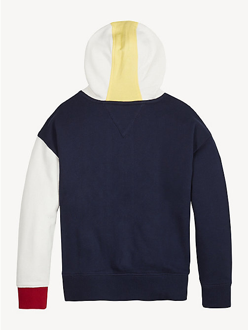 TOMMY HILFIGER Colour-Blocked Hoody - BLACK IRIS - TOMMY HILFIGER Sweatshirts & Hoodies - detail image 1