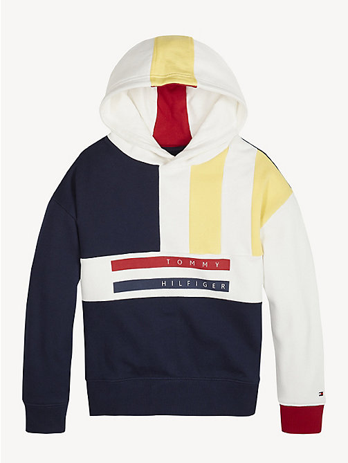 TOMMY HILFIGER Colour-Blocked Hoody - BLACK IRIS - TOMMY HILFIGER Sweatshirts & Hoodies - main image
