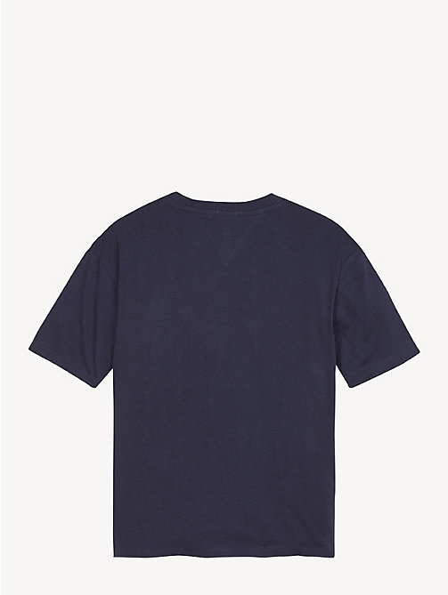 TOMMY HILFIGER Organic Cotton Unisex T-Shirt - BLACK IRIS - TOMMY HILFIGER Tops & T-shirts - detail image 1