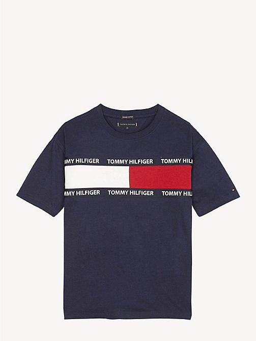 TOMMY HILFIGER Organic Cotton Unisex T-Shirt - BLACK IRIS - TOMMY HILFIGER Tops & T-shirts - main image