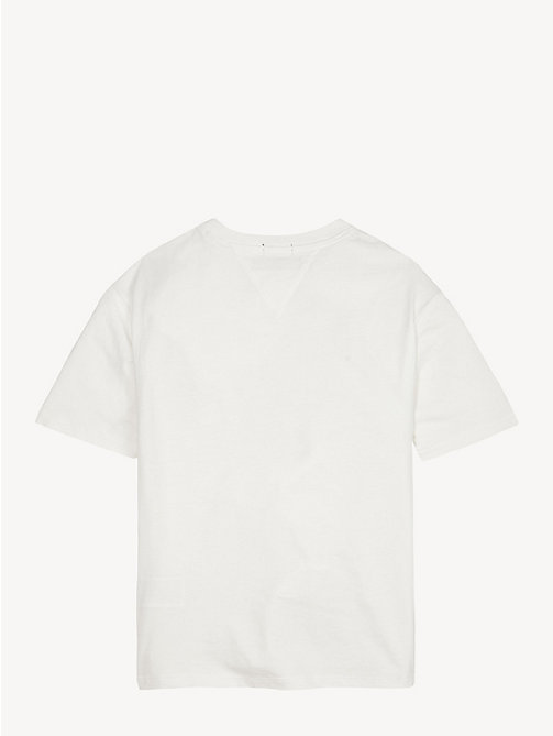 TOMMY HILFIGER T-shirt unisex in cotone biologico - BRIGHT WHITE - TOMMY HILFIGER Top & T-shirt - dettaglio immagine 1