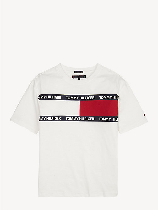 TOMMY HILFIGER T-shirt unisex in cotone biologico - BRIGHT WHITE - TOMMY HILFIGER Top & T-shirt - immagine principale