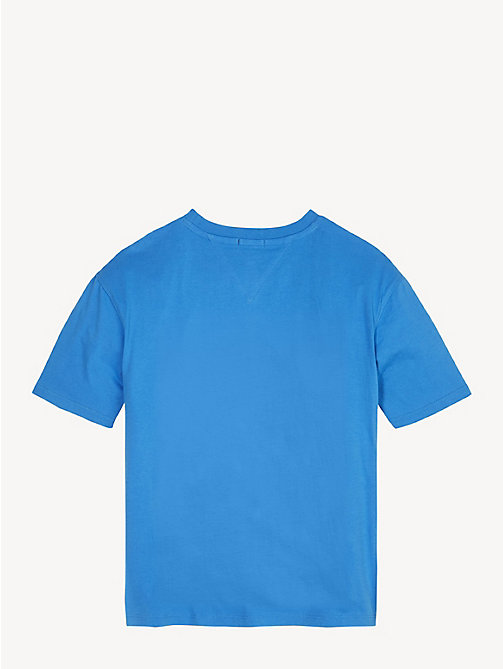 TOMMY HILFIGER T-shirt unisex in cotone biologico - BRILLIANT BLUE - TOMMY HILFIGER Top & T-shirt - dettaglio immagine 1