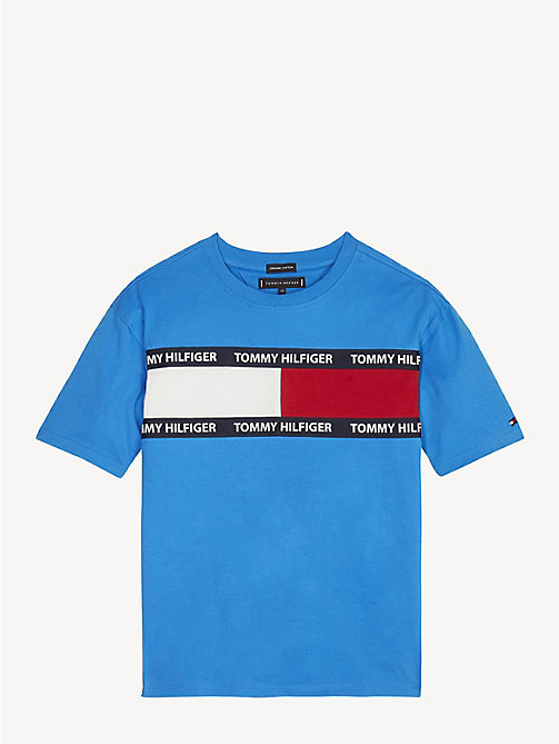 TOMMY HILFIGER T-shirt unisex in cotone biologico - BRILLIANT BLUE - TOMMY HILFIGER Top & T-shirt - immagine principale