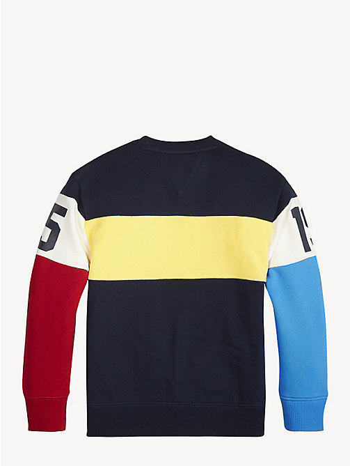 TOMMY HILFIGER Sweat colour-block style universitaire - BLACK IRIS - TOMMY HILFIGER Sweats - image détaillée 1