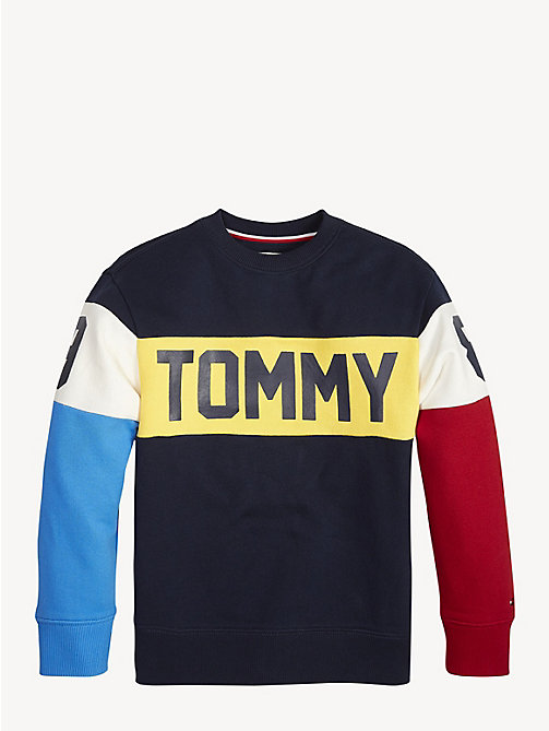 TOMMY HILFIGER Colour-Blocked Varsity Sweatshirt - BLACK IRIS - TOMMY HILFIGER Sweatshirts & Hoodies - main image