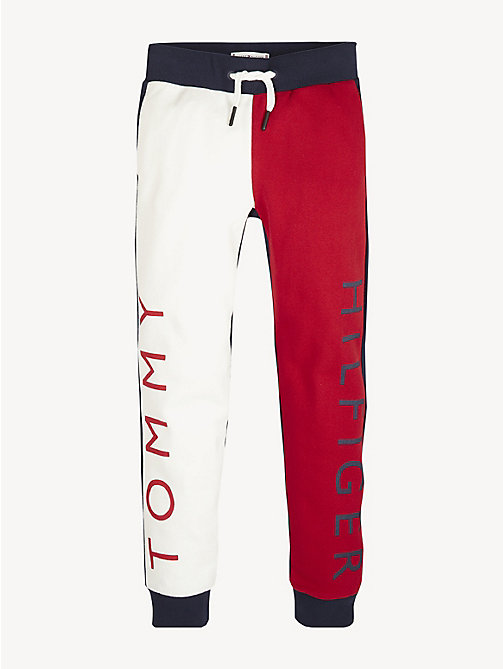 TOMMY HILFIGER Colour-Blocked Joggers - BLACK IRIS - TOMMY HILFIGER Trousers, Shorts & Skirts - detail image 1