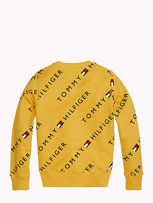 TOMMY HILFIGER Sports All-Over Logo Print Sweater - SPECTRA YELLOW - TOMMY HILFIGER Boys - detail image 1