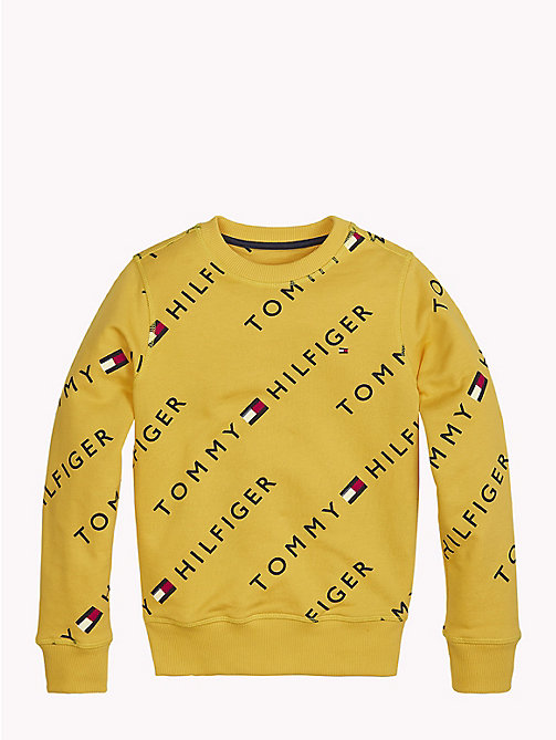 TOMMY HILFIGER Sports All-Over Logo Print Sweater - SPECTRA YELLOW - TOMMY HILFIGER Boys - main image