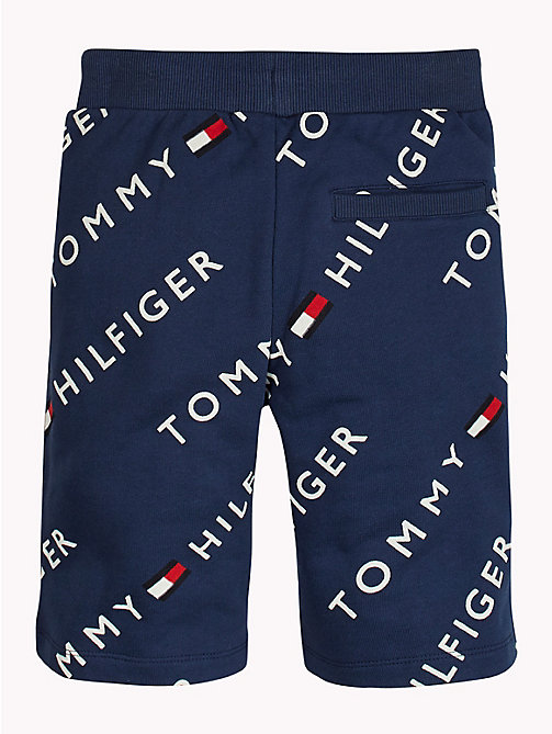 TOMMY HILFIGER Sports All-Over Logo Print Shorts - BLACK IRIS - TOMMY HILFIGER Sports Capsule - detail image 1