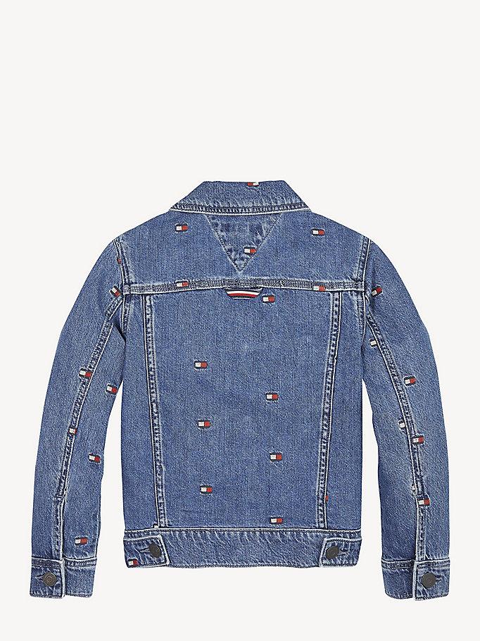 tommy hilfiger jeansjacke mit logo hinten herren