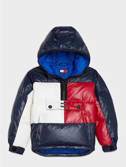 Wattierte Popover Jacke mit Logo | RED | Tommy Hilfiger