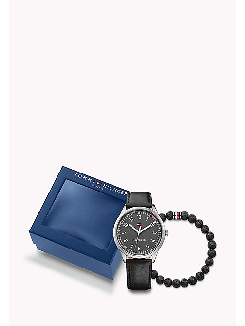 TOMMY HILFIGER Men's Gift Set: watch & beaded bracelet - MULTI - TOMMY HILFIGER Jewellery & Cufflinks - main image