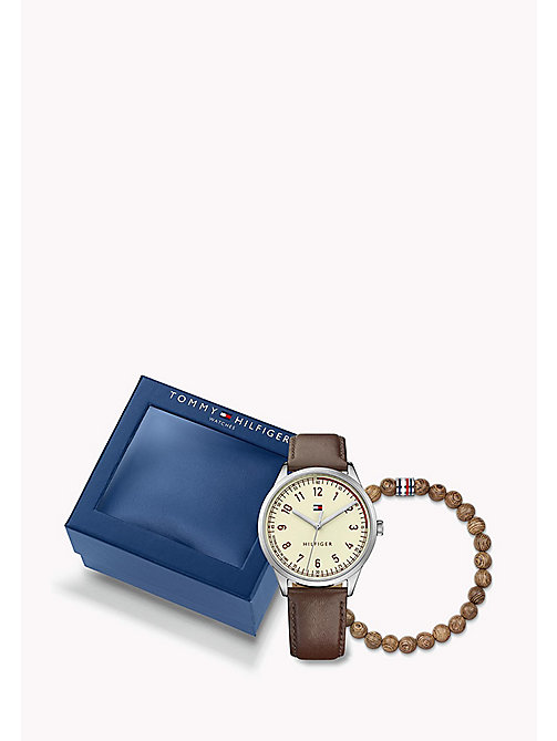 TOMMY HILFIGER Men's Gift Set: watch & beaded bracelet - MULTI - TOMMY HILFIGER Schmuck & Manschettenknöpfe - main image