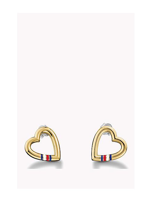 TOMMY HILFIGER Heart Stud Earring - MULTI - TOMMY HILFIGER Watches & Jewelry - main image