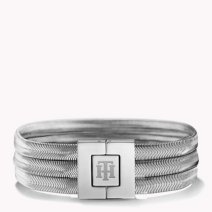 silver stainless steel snake bracelet for women tommy hilfiger