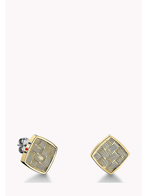 TOMMY HILFIGER Gold-Plated Stud Earrings - MULTI - TOMMY HILFIGER Jewellery - main image