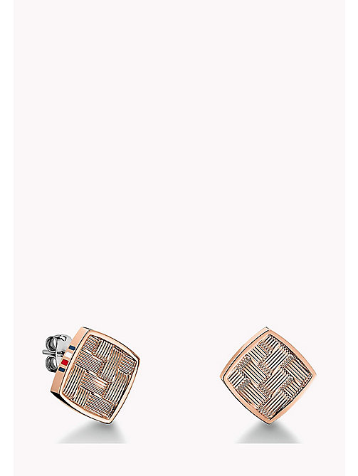 TOMMY HILFIGER Rose Gold-Plated Stud Earrings - MULTI - TOMMY HILFIGER Jewellery - main image