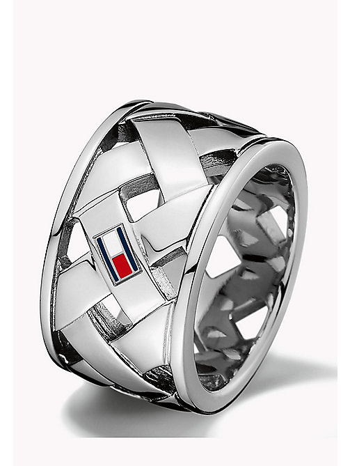 TOMMY HILFIGER Signature Basket Weave Ring - MULTI - TOMMY HILFIGER Jewellery - main image