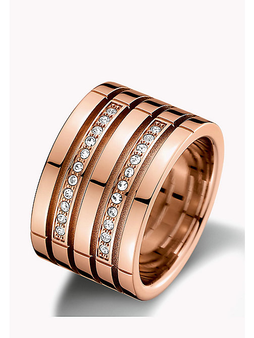 TOMMY HILFIGER Rose Gold-Plated Multi-Ring - MULTI - TOMMY HILFIGER Jewellery - main image