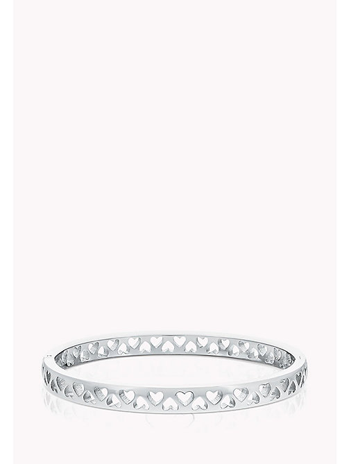 TOMMY HILFIGER Punched Heart Bangle - STAINLESTAINLESS STEEL STEEL - TOMMY HILFIGER Jewellery - main image