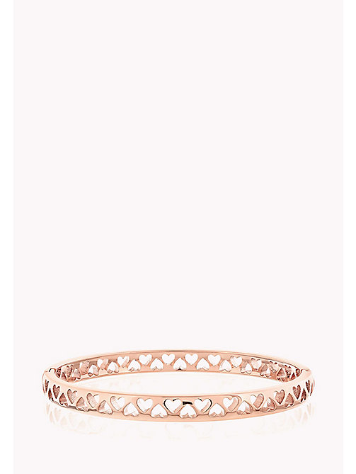 TOMMY HILFIGER Punched Heart Bangle - ROSE GOLD - TOMMY HILFIGER Bracelets - main image