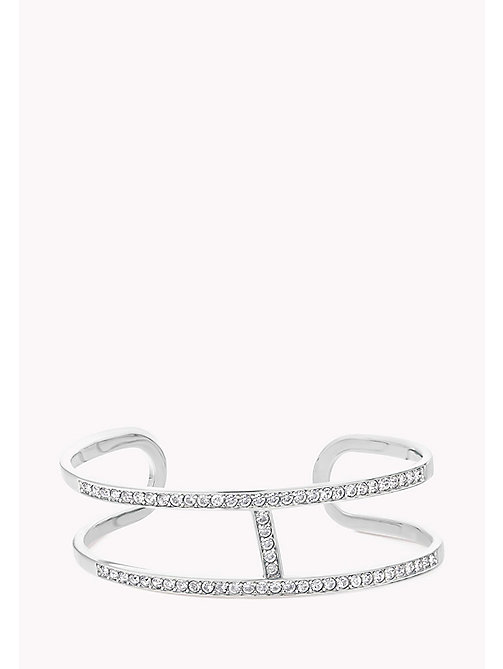 Crystal Inset H-Shaped Cuff - Sales Up to -50% Tommy Hilfiger