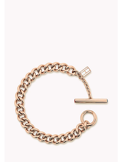 TOMMY HILFIGER Rose Gold-Plated Open-Link Bracelet - ROSE GOLD - TOMMY HILFIGER Occasion wear - main image
