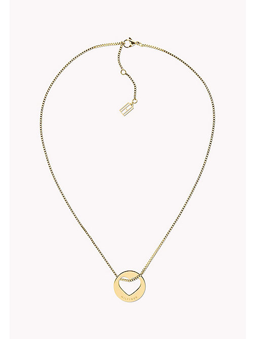 TOMMY HILFIGER V-Day Heart Necklace - YELLOW GOLD - TOMMY HILFIGER Necklaces - main image