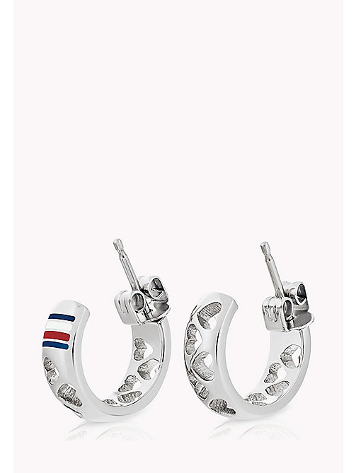 TOMMY HILFIGER Punched Heart Earring - STAINLESTAINLESS STEEL STEEL - TOMMY HILFIGER Earrings - main image