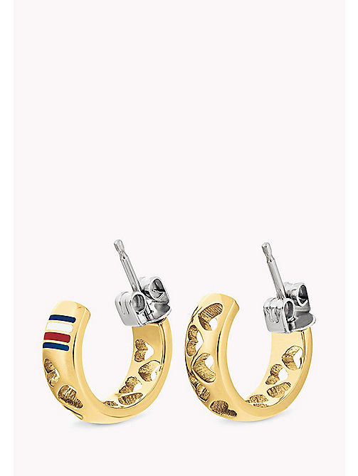 TOMMY HILFIGER Punched Heart Earring - YELLOW GOLD - TOMMY HILFIGER Earrings - main image