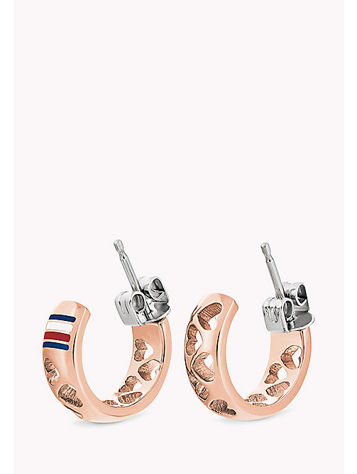 TOMMY HILFIGER Small Hoop Rose Gold-Plated Stainless Steel Earrings - ROSE GOLD -  Occasion wear - main image