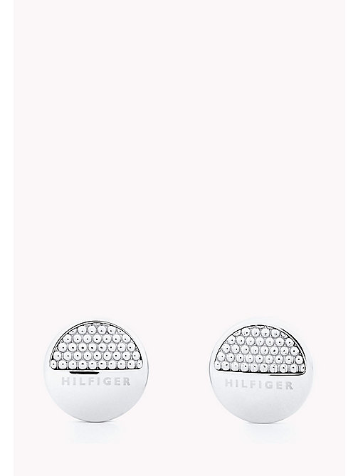 TOMMY HILFIGER Textured Spot Stud Earrings - STAINLESTAINLESS STEEL STEEL - TOMMY HILFIGER Occasion wear - main image