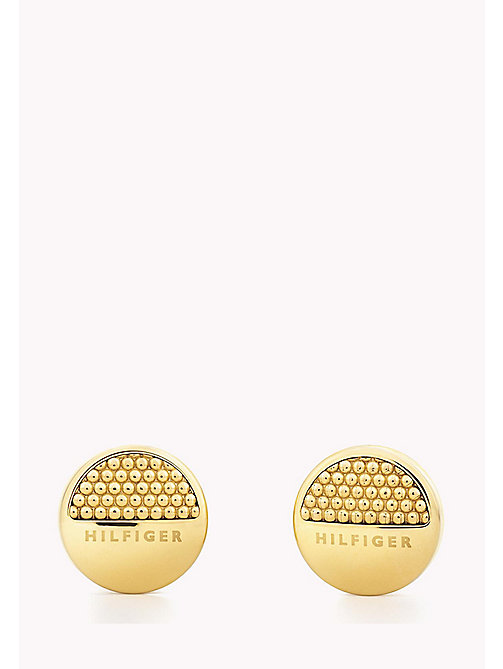 TOMMY HILFIGER Gold-Plated Logo Earrings - YELLOW GOLD - TOMMY HILFIGER Earrings - main image