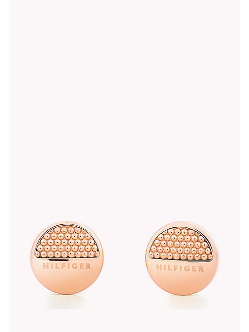TOMMY HILFIGER Rose Gold-Plated Studs - ROSE GOLD - TOMMY HILFIGER Earrings - main image